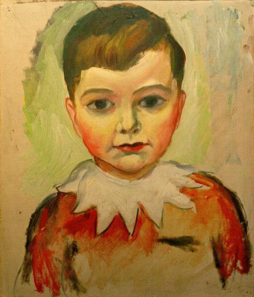 """August Macke """"Walter mit Spitzenkragen"""" 32 x 35 cm 1"""