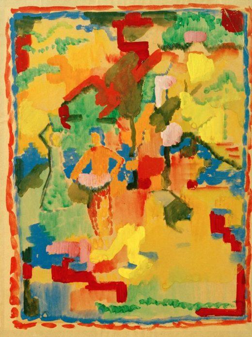 """August Macke """"Südlischer Garten"""" 27 x 35 cm 1"""