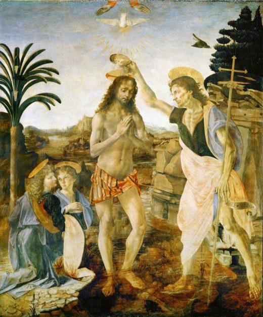 """Leonardo da Vinci """"Taufe Christi"""" 172 x 180 cm 1"""