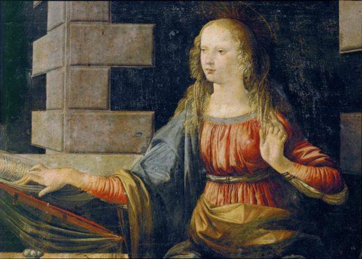 """Leonardo da Vinci """"Die Verkündigung"""" 217 x 98 cm 1"""