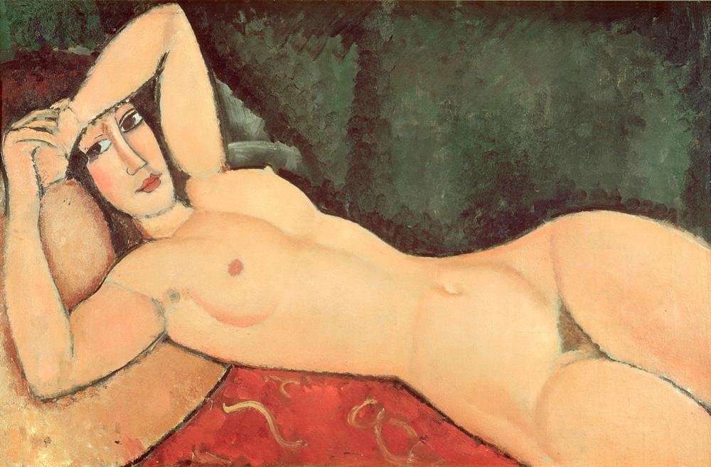 """Amedeo Modigliani """"Nu couche, un bras replie sur le front"""" 65 x 100""""cm"""