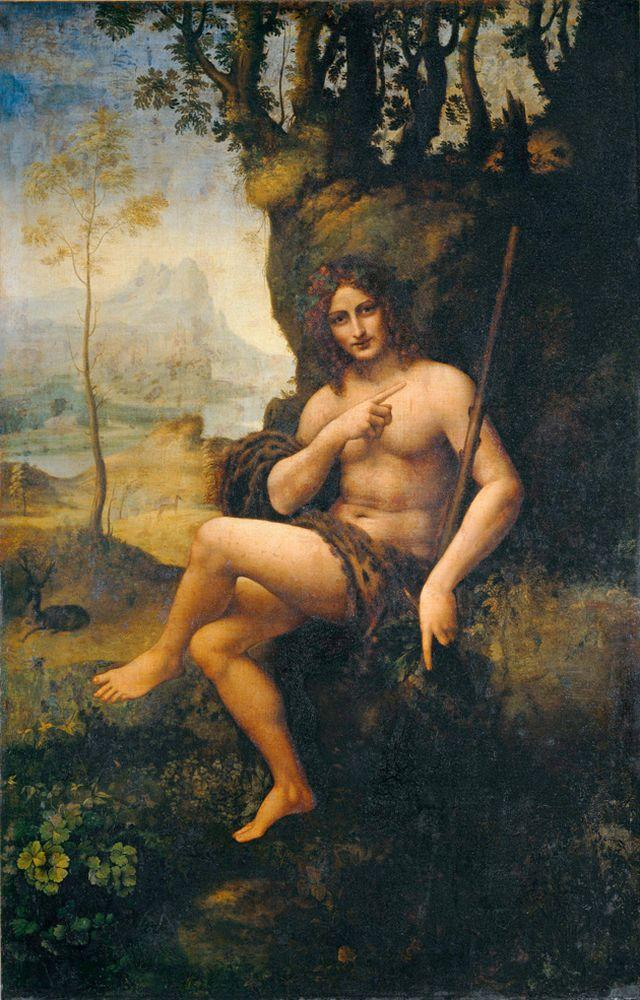 """Leonardo da Vinci """"Bacchus"""" 115 x 177 cm"""