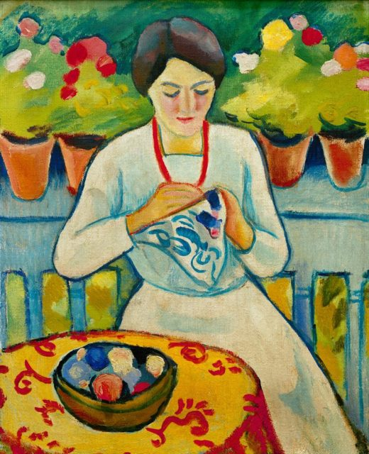 "August Macke ""Frau auf Balkon"" 48 x 61 cm 1"