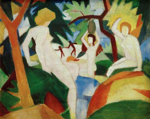 "August Macke ""Badende Frauen"" 74 x 60 cm 1"