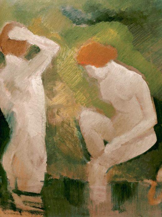 """August Macke """"Badende am grünen Abhang"""" 25 x 27 cm 1"""