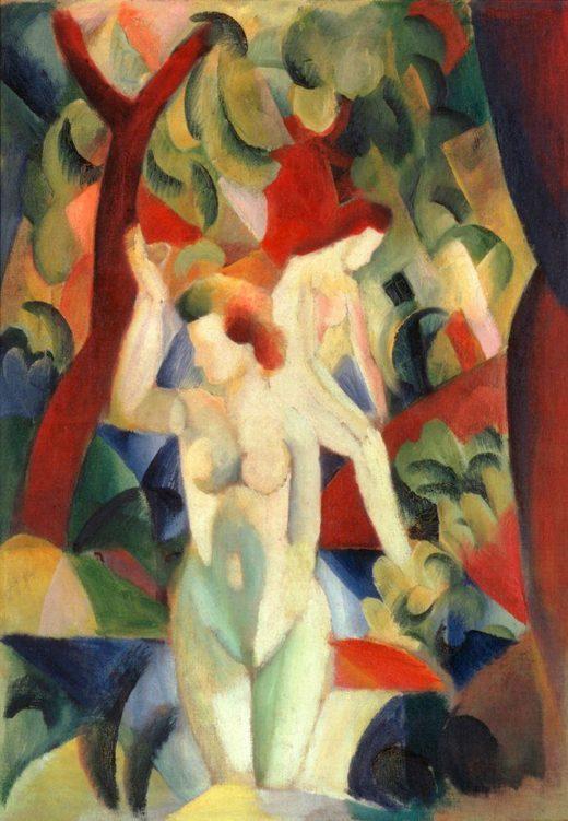 "August Macke ""Badende Frauen"" 72 x 102 cm 1"