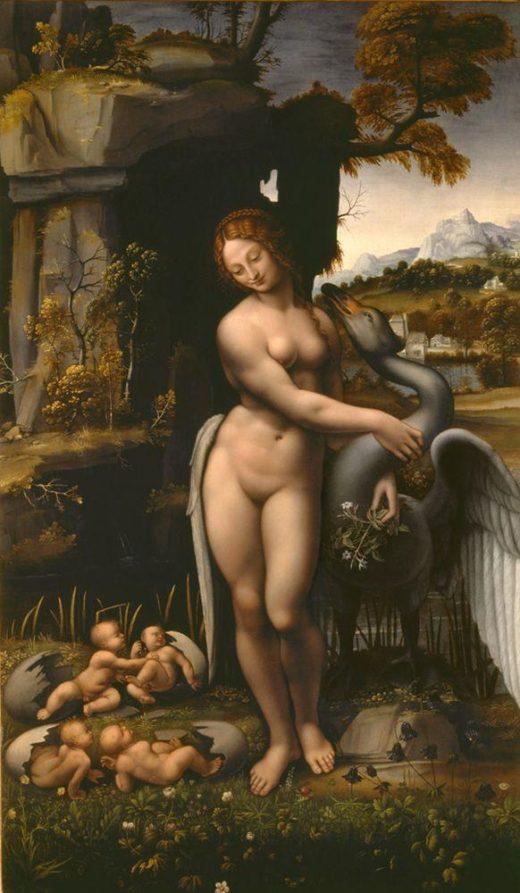 """Leonardo da Vinci """"Leda"""" 78 x 132 cm 1"""