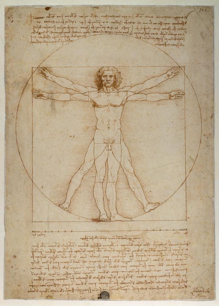 "Leonardo da Vinci ""Proportionsschema "" 25 x 34 cm"