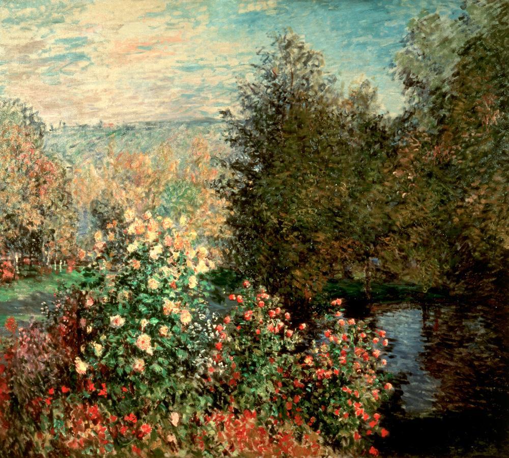 """Claude Monet """"Gartenwinkel in Montgeron"""" 193 x 172 cm"""