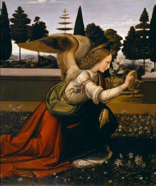 """Leonardo da Vinci """"Engel der Verkündigung (Ausschnitt)"""" 217 x 98 cm 1"""