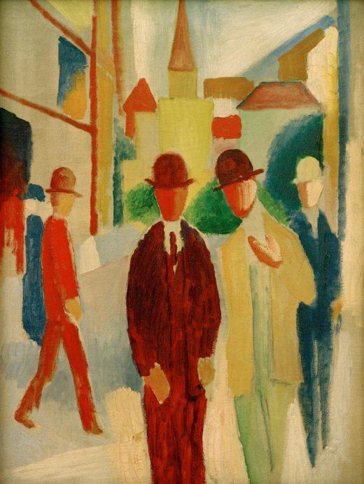 """August Macke """"Helle Straße mit Leuten"""" 47 x 62 cm 1"""