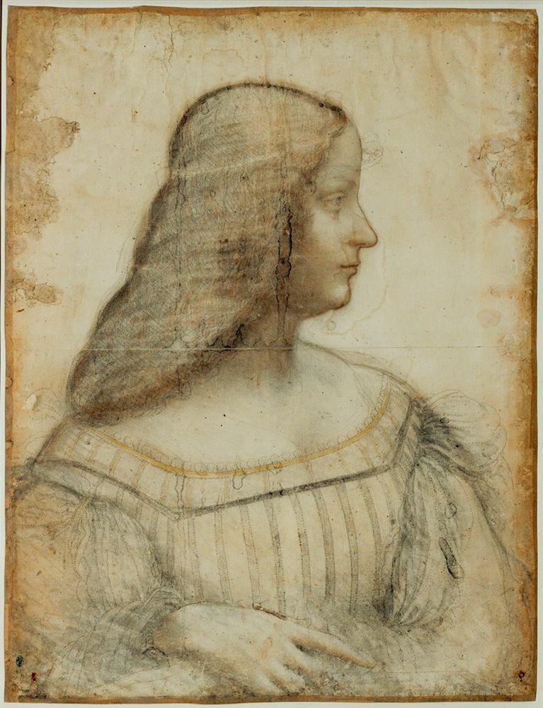 "Leonardo da Vinci ""Porträt von Isabella d'Este"" 36 x 46 cm"