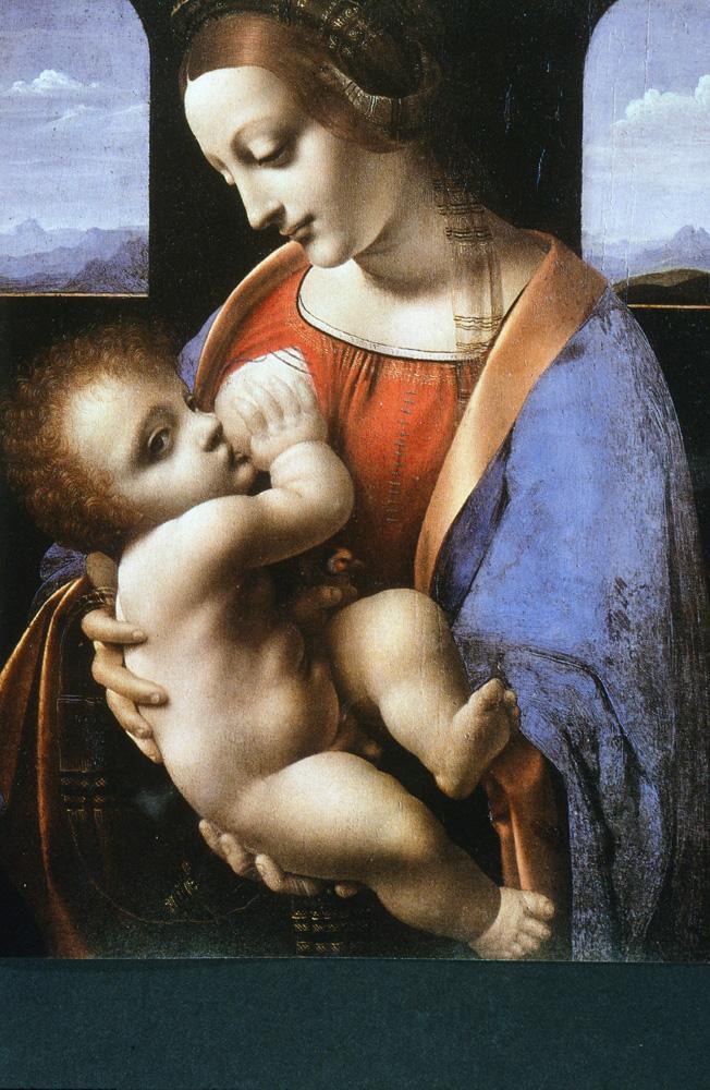"""Leonardo da Vinci """"Madonna mit dem Kinde"""" 33 x 42 cm"""