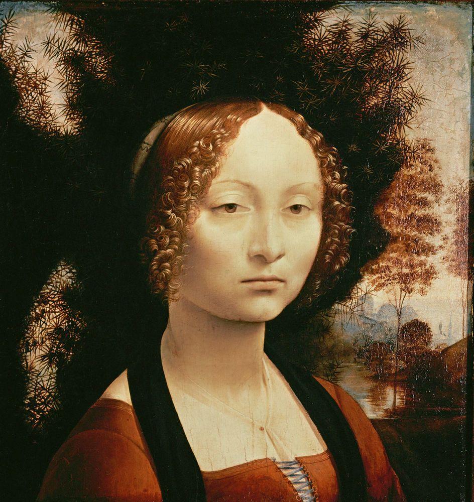 """Leonardo da Vinci """"Porträt der Ginevra Benci"""" 37 x 42 cm"""