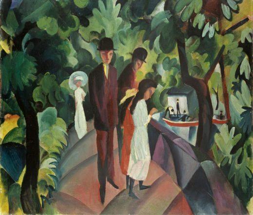 """August Macke """"Spaziergang auf der Brücke"""" 100 x 86 cm 1"""