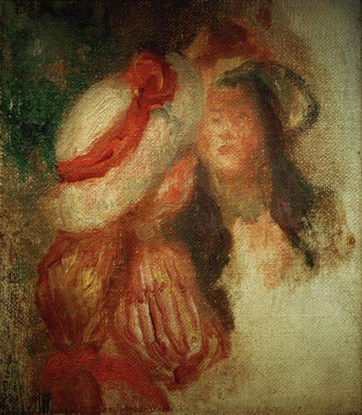 """Auguste Renoir """"Zwei kleine Mädchen"""" 10 x 11 cm 1"""