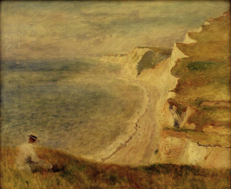 """Auguste Renoir """"Steilküste bei Pourville"""" 65 x 54 cm"""