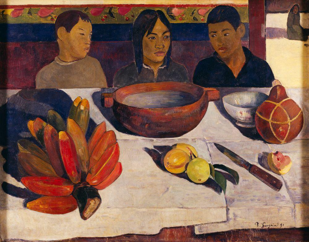 "Paul Gauguin ""Tahitische Jungen am Tisch""  92 x 73 cm"
