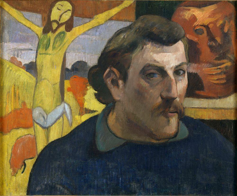 "Paul Gauguin ""Selbstbildnis mit dem gelben Christus""  46 x 38 cm"