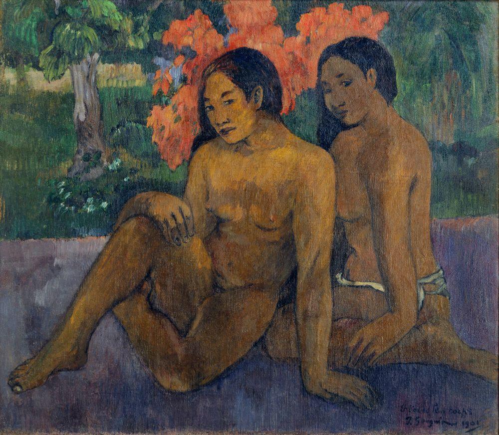 "Paul Gauguin ""Und das Gold ihrer Körper (Et l'or de leur corps)""  76 x 67 cm"