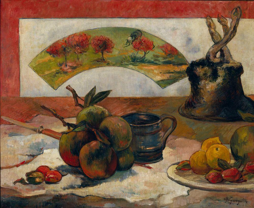 """Paul Gauguin """"Stillleben mit Fächer""""  61 x 50 cm"""