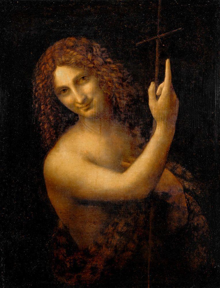"""Leonardo da Vinci """"Johannes der Täufer"""" 57 x 69 cm"""