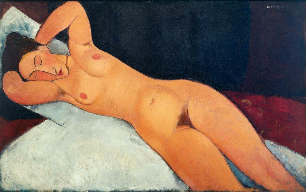 """Amedeo Modigliani """"Akt"""" 73 x 117""""cm"""