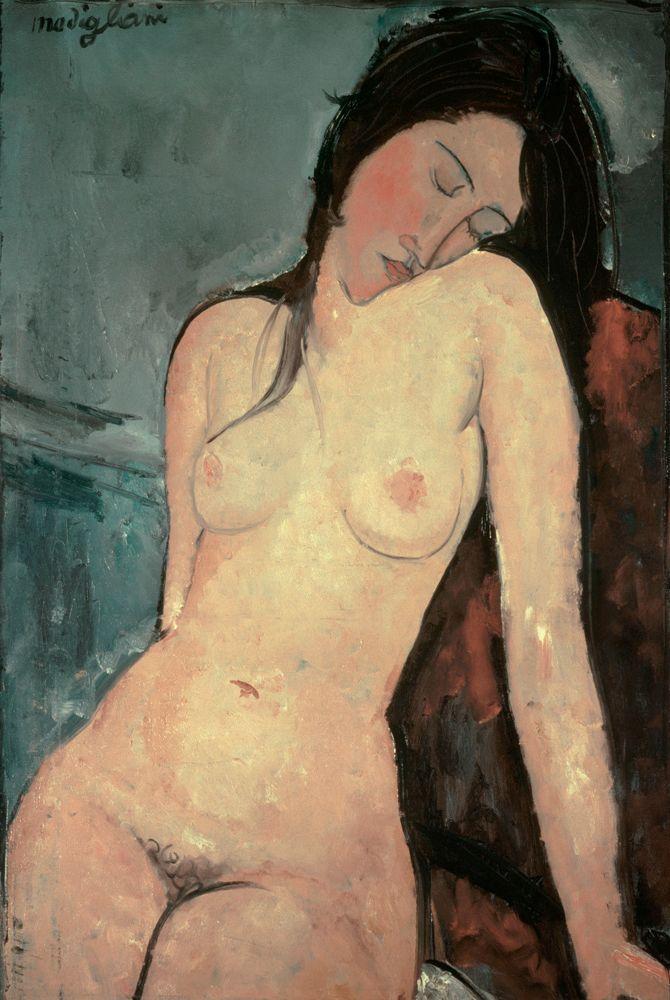 """Amedeo Modigliani """"Sitzender weiblicher Akt"""" 92 x 60""""cm"""