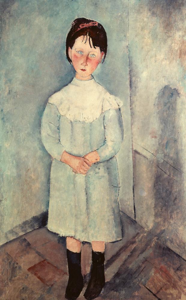 """Amedeo Modigliani """"Kleines Mädchen in Blau"""" 73 x 117""""cm"""