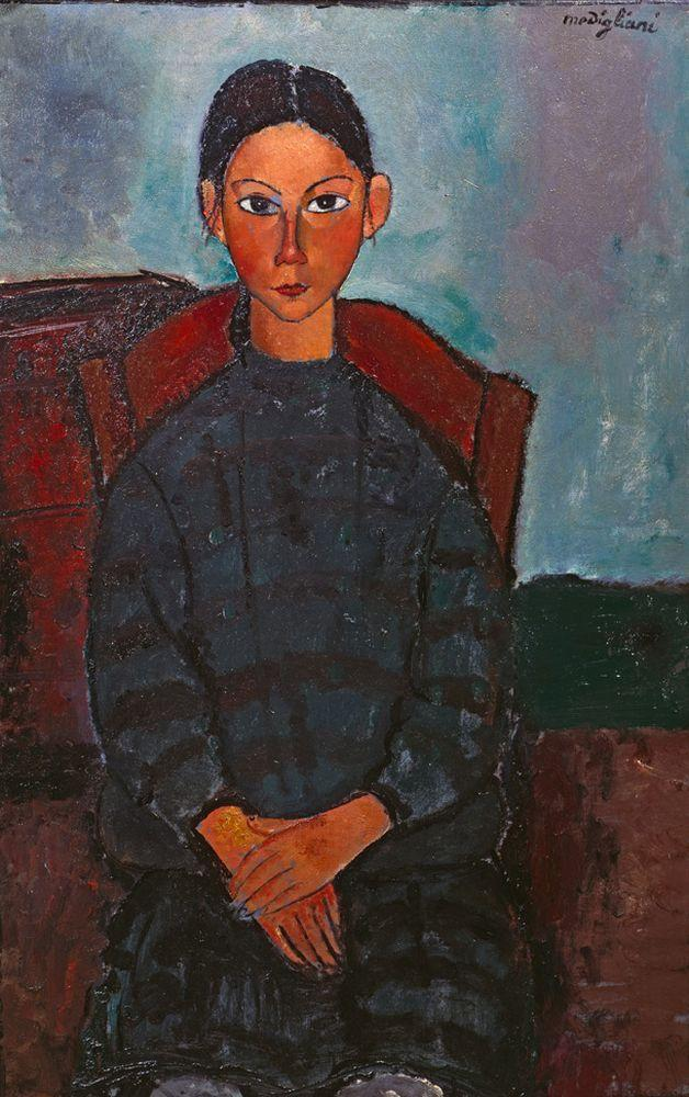 """Amedeo Modigliani """"Mädchen mit schwarzer Schürze"""" 93 x 61""""cm"""