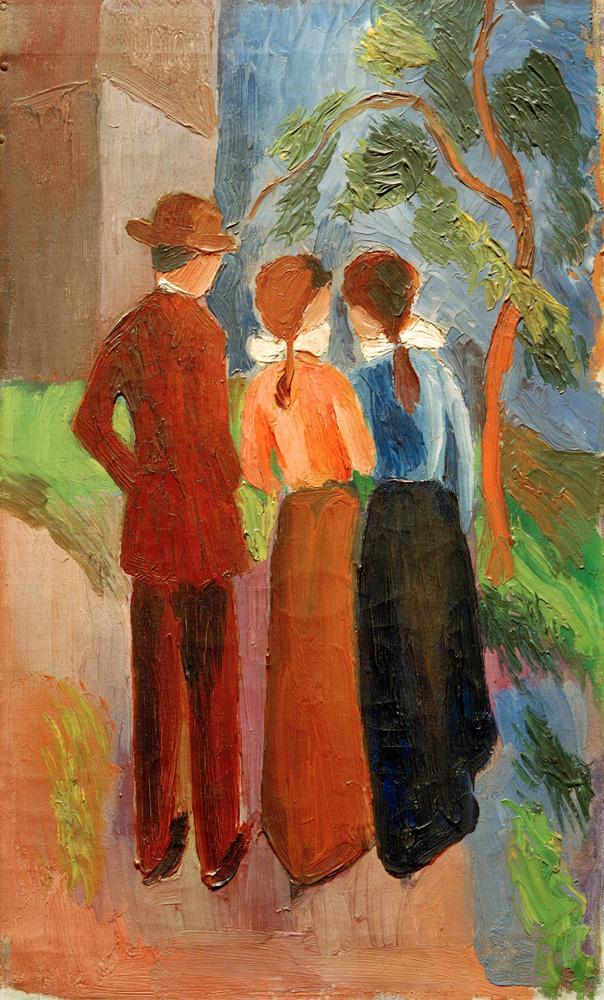 Картинки по запросу weewado leinwandbild - alte meister - august macke - drei spaziergänge 1914 größe 60x100 cm
