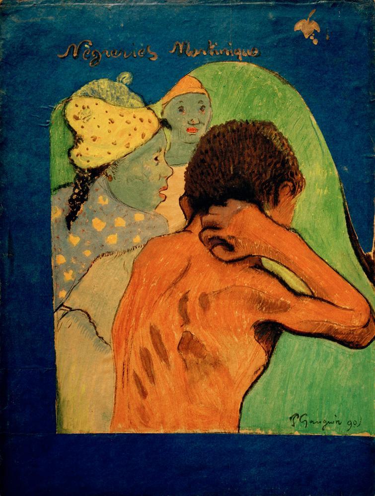 """Paul Gauguin """"Nègreries Martinique""""  25 x 33 cm"""