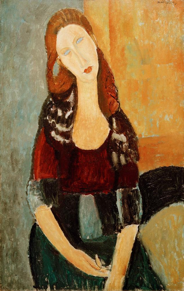 """Amedeo Modigliani """"Jeanne Hébuterne sitzend"""" 92 x 60""""cm"""