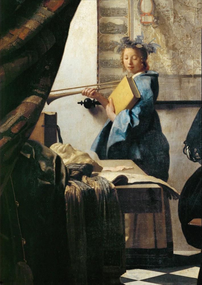 Kunstdruck Die Malkunst (Ausschnitt) Jan Vermeer