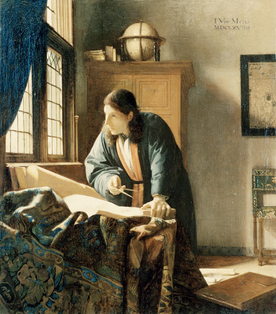 "Jan Vermeer ""Der Geograph"" 46 x 52 cm"