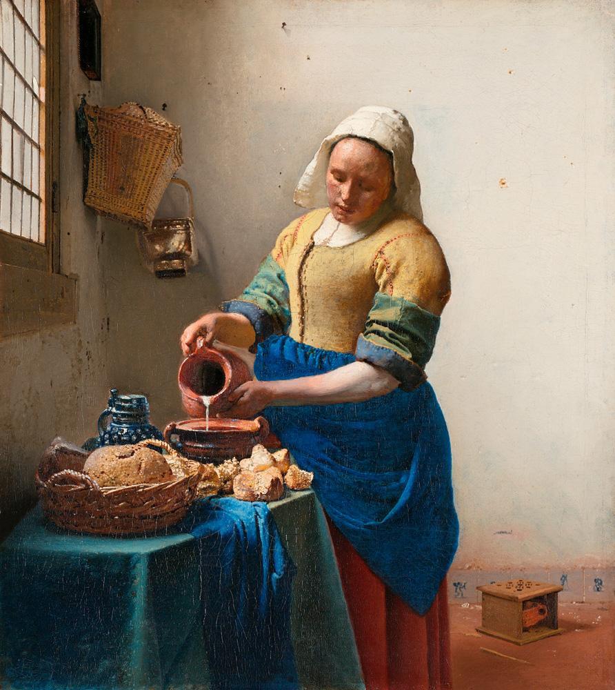 """Jan Vermeer """"Dienstmagd mit Milchkrug"""" 41 x 45 cm"""