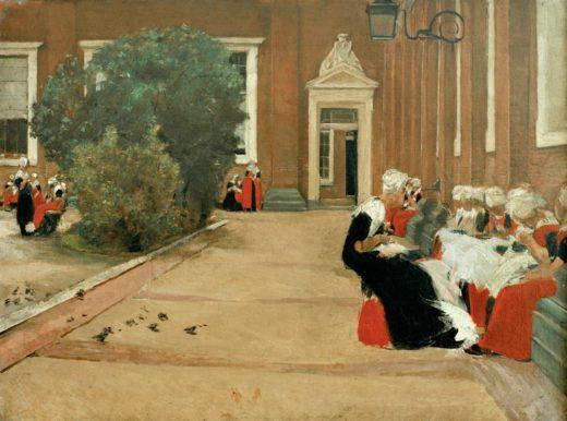 """Max Liebermann """"Amsterdamer Waisenmädchen"""" 90 x 67 cm 1"""