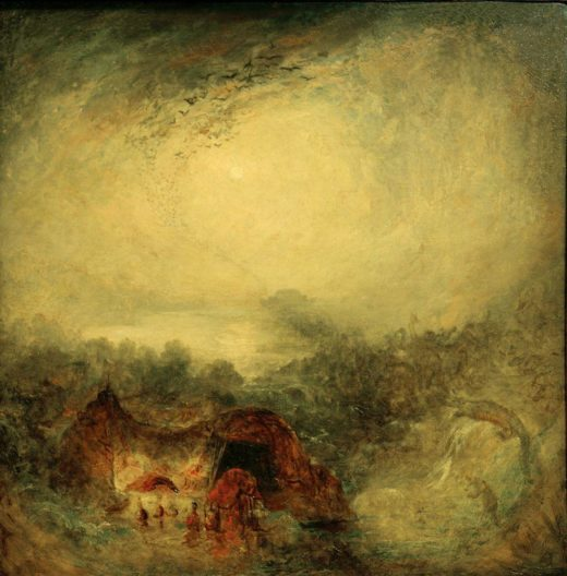 """William Turner """"Der Abend der Sintflut"""" 76 x 76 cm 1"""