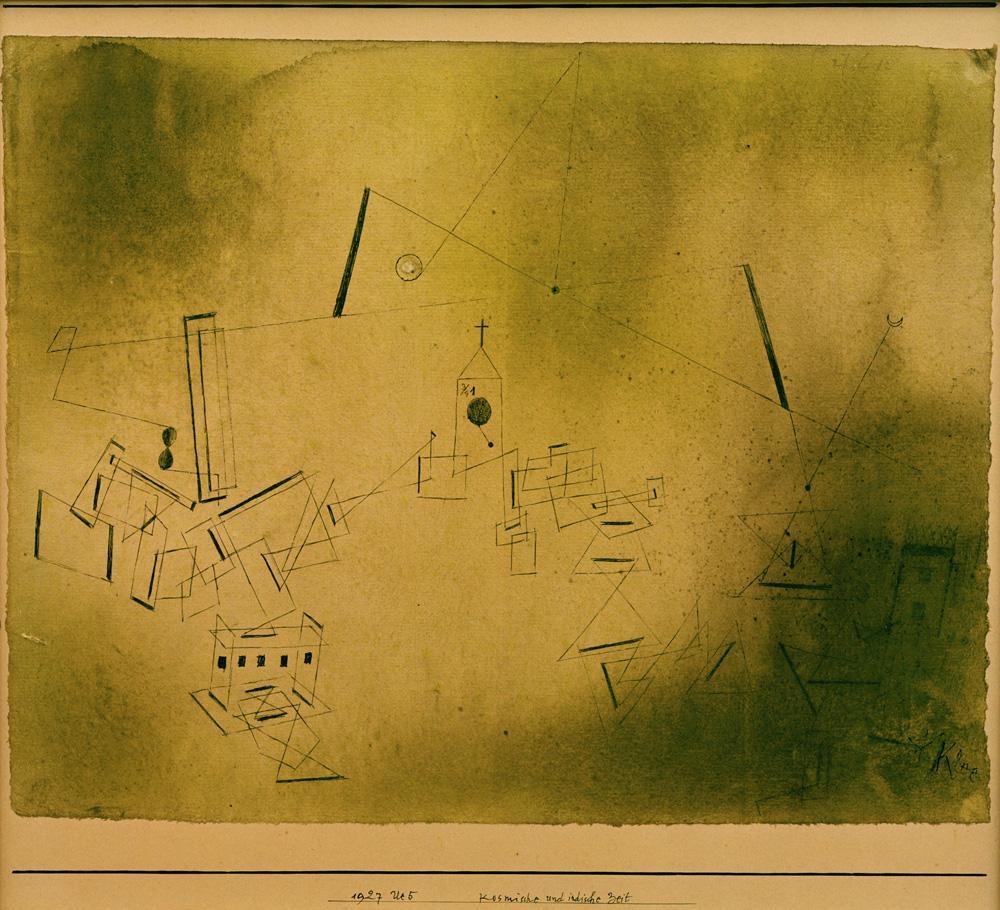 Kunstdruck Kosmische und irdische Zeit von Paul Klee