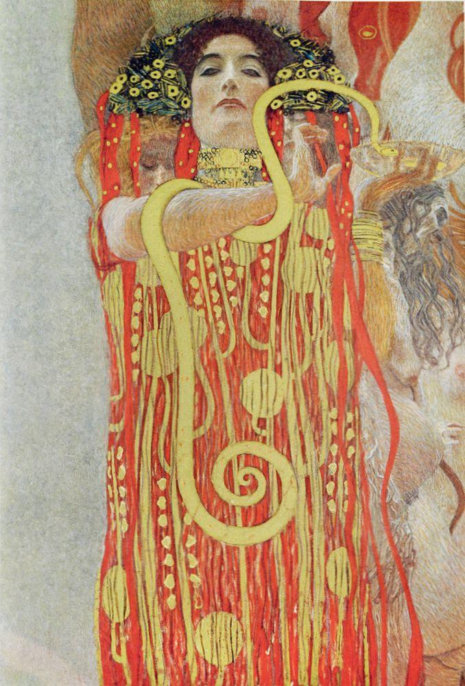 "Gustav Klimt ""Medizin (Ausschnitt)"" 300 x 430 cm"