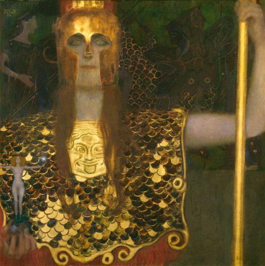 "Gustav Klimt ""Pallas Athene"" 75 x 75 cm"