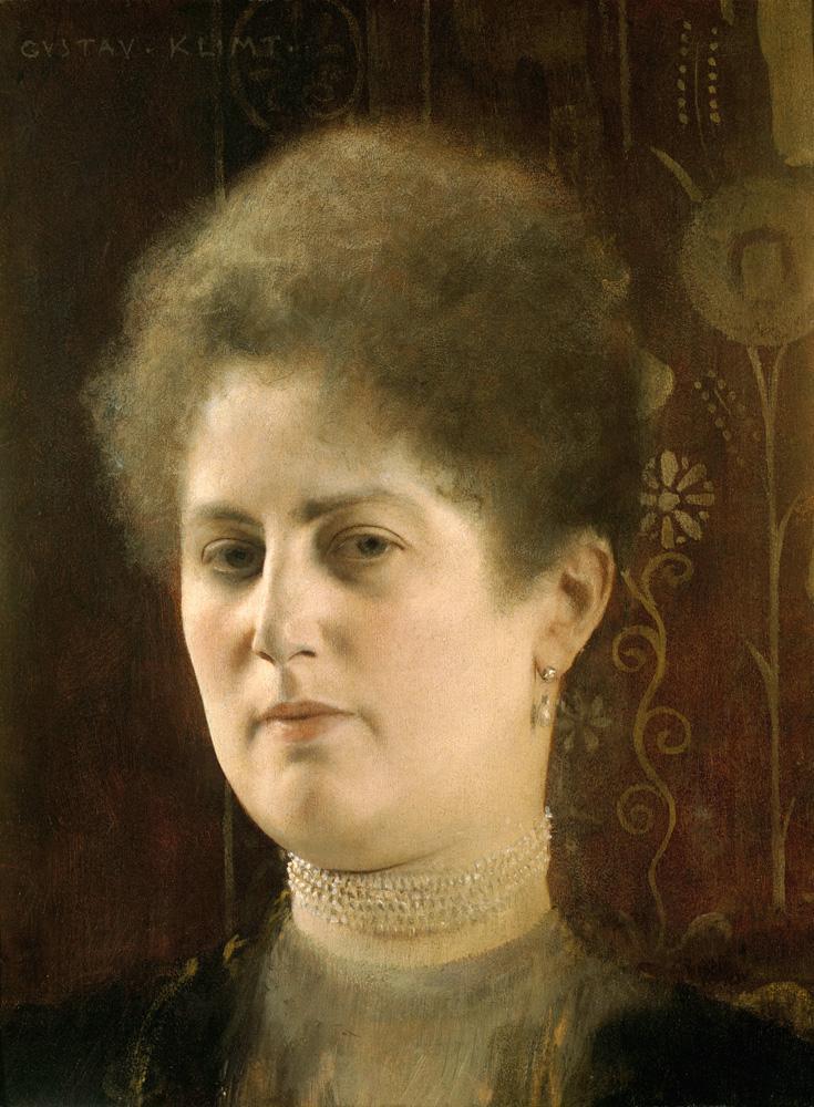 "Gustav Klimt ""Damenbildnis (Bildnis Frau Heymann)"" 23 x 39 cm"