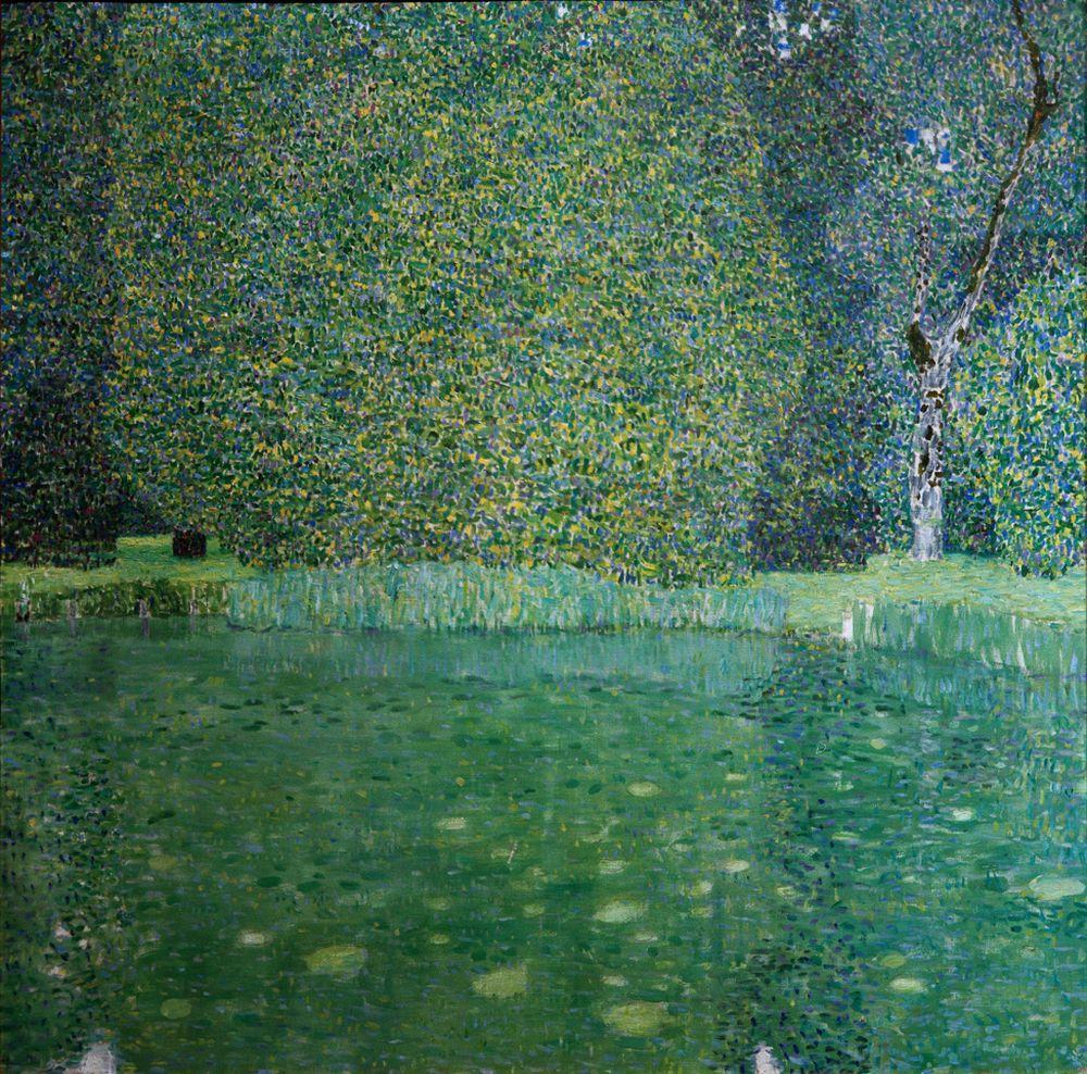 """Gustav Klimt """"Schlossteich in Kammer am Attersee"""" 110 x 110 cm"""