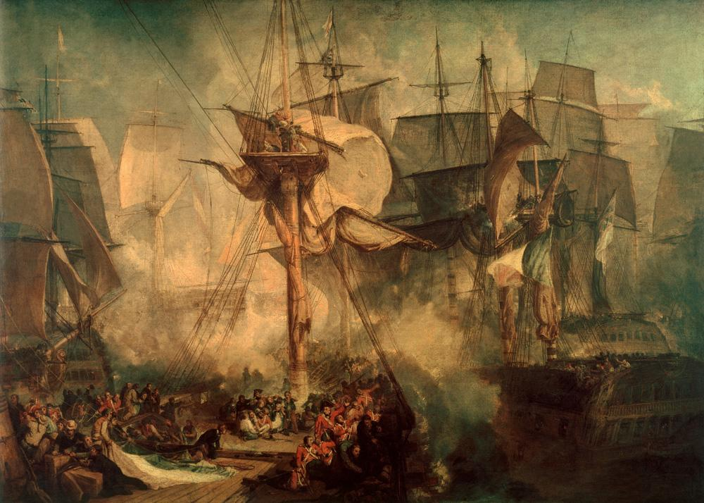 "William Turner ""Die Schlacht bei Trafalgar"" 171 x 239 cm"