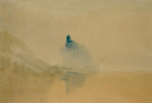 """William Turner """"Schloss am Ufer eines Sees"""" 14 x 21 cm 1"""
