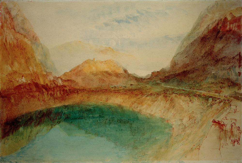 "William Turner ""See in den Schweizer Bergen"" 27 x 39 cm"
