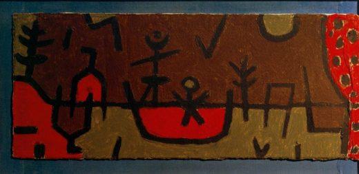 "Paul Klee ""Teich im Park"" 50 x 21 cm 1"