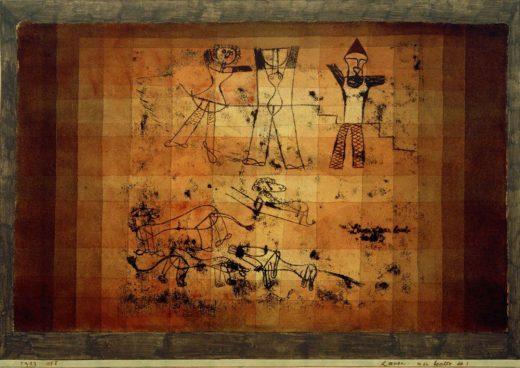 """Paul Klee """"Löwen, man beachte sie!"""" 51 x 36 cm 1"""