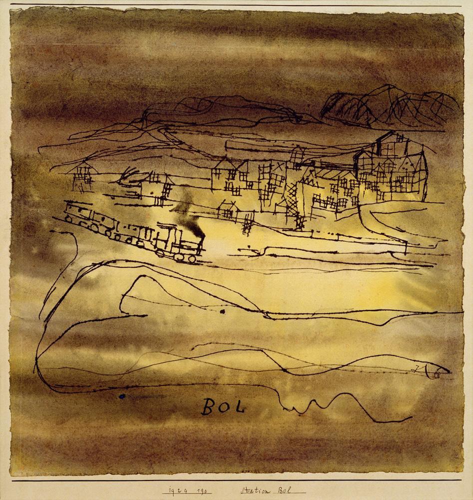 "Paul Klee ""Station Bol"" 30 x 31 cm"