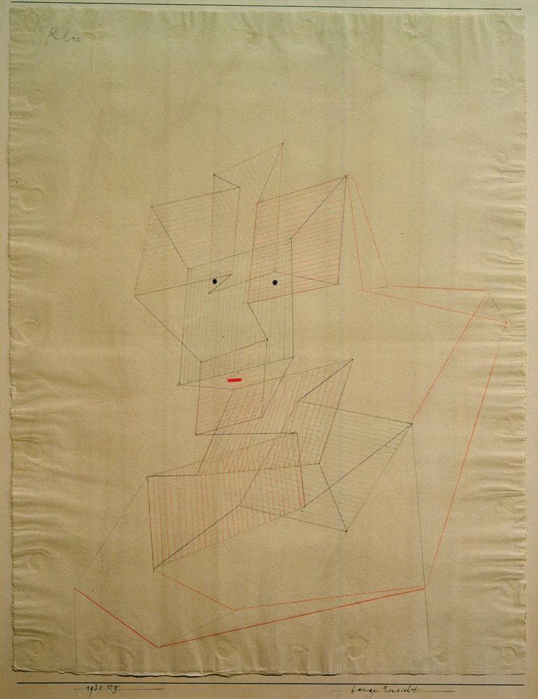 """Paul Klee """"Bange Einsicht"""" 47 x 61 cm"""